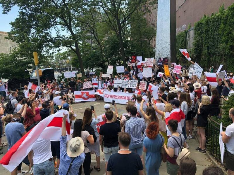Solidarity rally in New-York