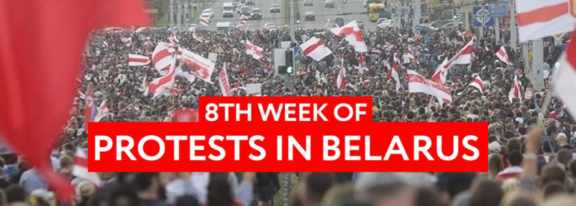 Belarus. 8th week of protests. Repressions intensify but people don't give up.