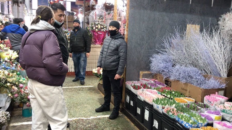 Rizhsky market in Moscow