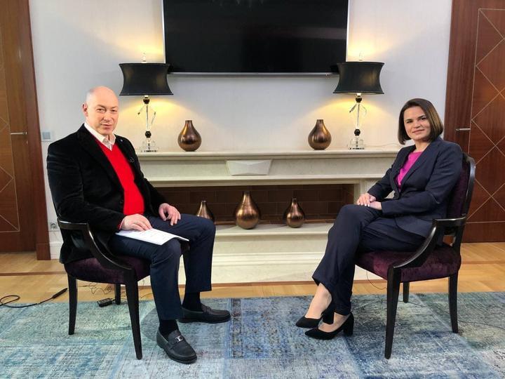 Sviatlana Tsikhanouskaya gave an interview to Ukrainian journalist Dmitry Gordon